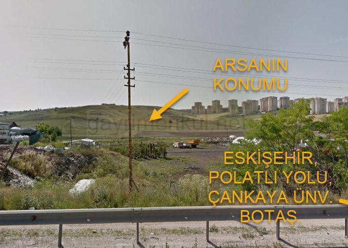 Eskişehir Yolu Üzerinde. Çankaya üniversitesine çok yakın Dumlupınar Bulv. 100 mt Mesafede Yatırımlık Arsa
